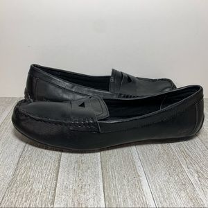 BOC Black Faux Leather Penny Loafers